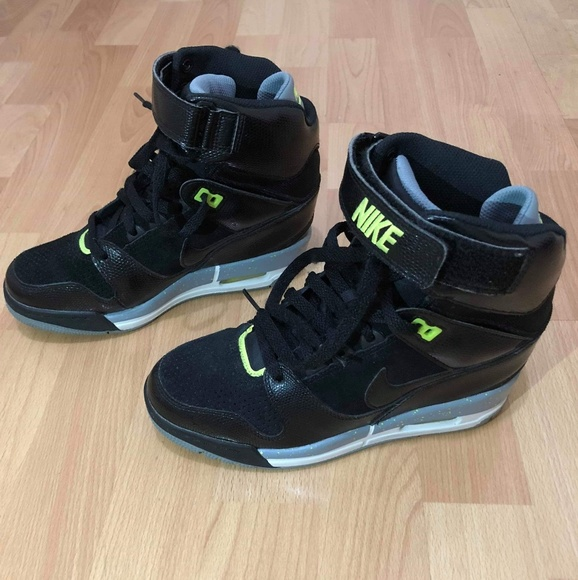 dfa54df0bd6 Nike Dunk Sky hi Wedge Air Revolution Black Grey V.  M 5bf2449312cd4a64a832eb5d